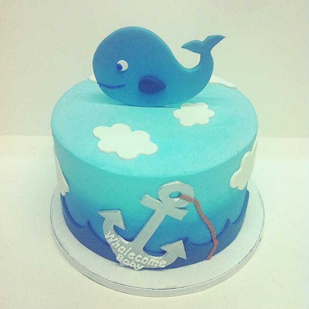 whale baby shower cake austin customcake babyshower