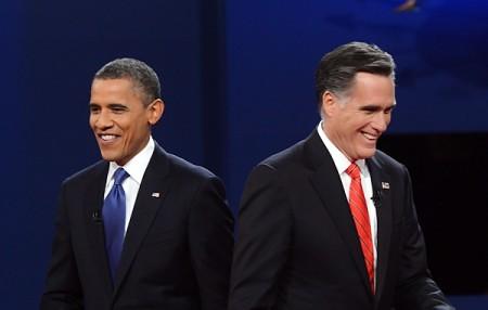 Obama y Romney en un debate