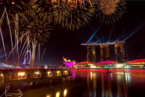 Fiesta de Año nuevo en Marina Bay Singapore