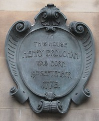 Photo of Henry Peter Brougham bronze plaque