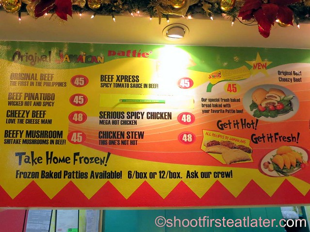 De Original Jamaican Pattie Shop menu-002