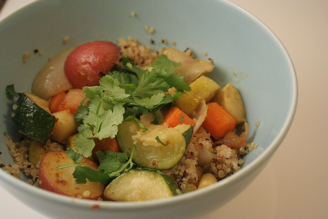 Cumin Scented Quinoa & Roasted Vegetable Hash
