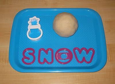 Snow Playdough Tray (Photo from Counting Coconuts)