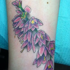 heather flower tattoo