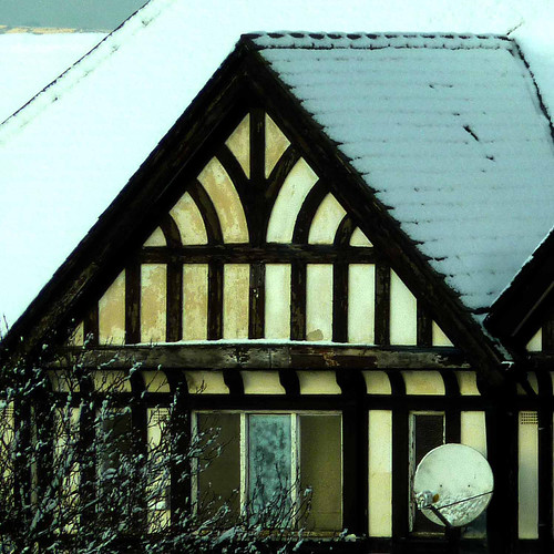 mock tudor in the snow by pho-Tony