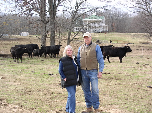 Angus Farm owners Larry and Annette Cutliff felt last year's drought impacts firsthand.