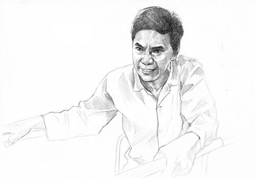 pencil portrait of 黄炯耀 - WIP