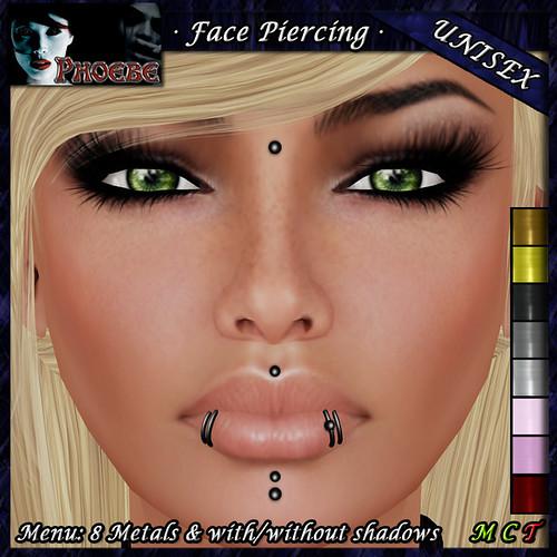 [$75L PROMO] *P* Unisex Face Piercing K9 ~8 Metals~