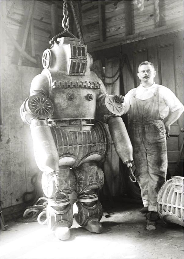 Chester E. McDuffee's patented diving suit