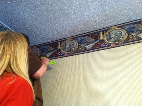 installing Dad's wallpaper border