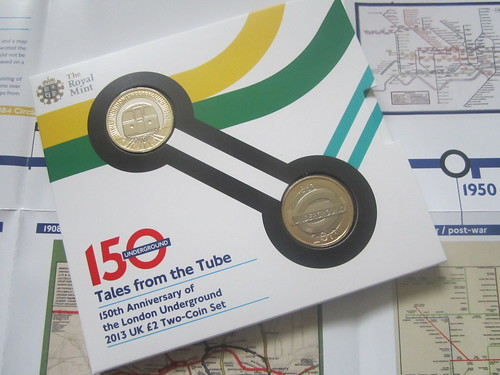 2013 UK £2 Two Coin Set of London Underground Coins