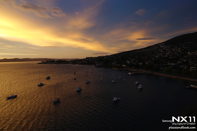 sunset in hobart