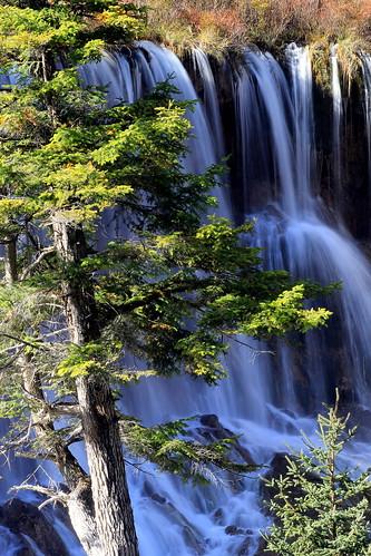 china travel nature waterfalls sichuan jiuzhaigou 九寨沟,诺日朗瀑布 xiaomeisun bestevergoldenartists