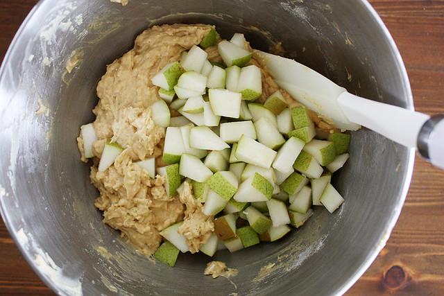 pears + batter.