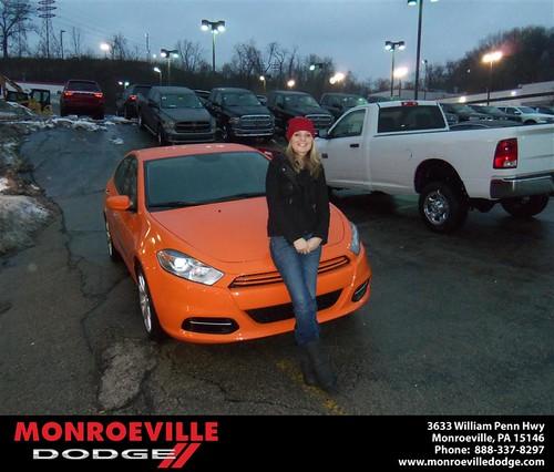 Congratulations to Karissa Dinger on the 2013 Dodge Dart by Monroeville Dodge