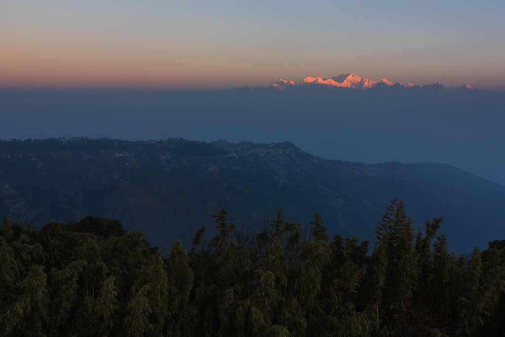 First Light On Kanchenjunga