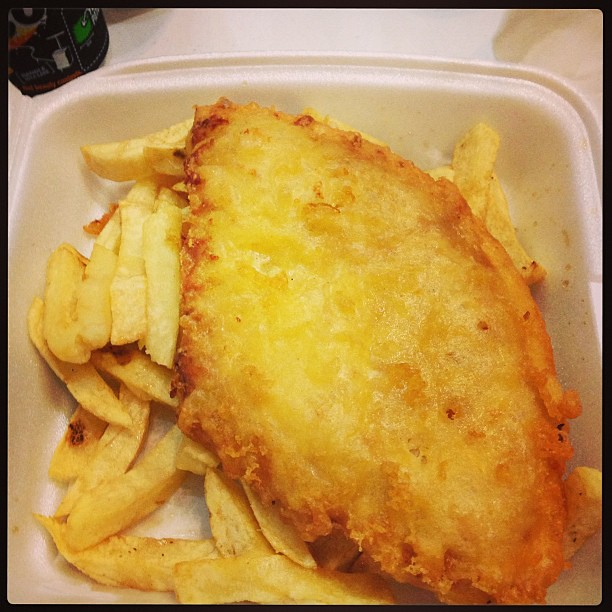 Deep fried pizza supper. Heart attack in a box but true Scottish fayre ...