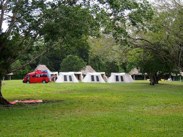 Camping at Tikal National Park, Guatemala