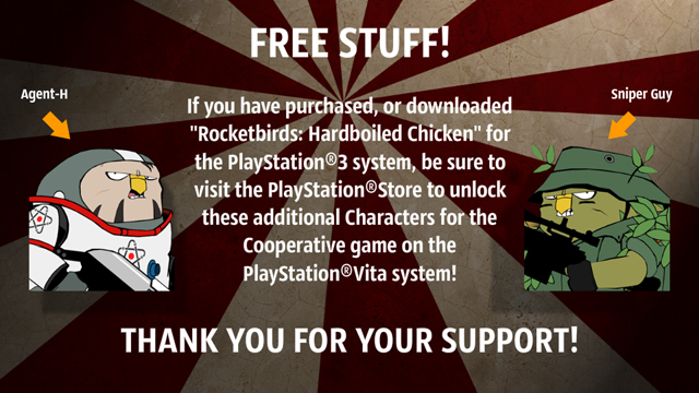 Rocketbirds: Hardboiled Chicken on PS Vita