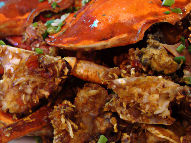 Fried Crab with Salt and Pepper