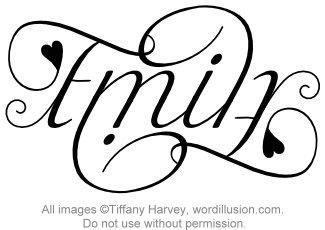 """""""Emily"""" Ambigram"""