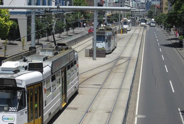 Melbourne University tram terminus
