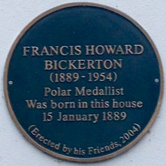 Photo of Frank Bickerton green plaque