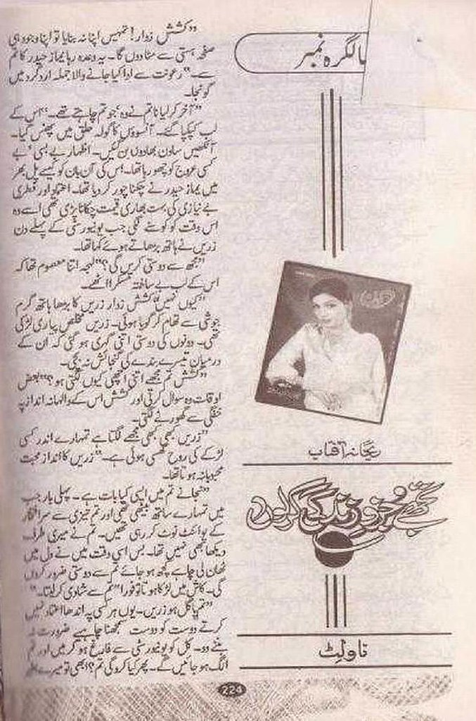 Tujhe Juzve Zindgi kar lon is a very well written complex script novel which depicts normal emotions and behaviour of human like love hate greed power and fear, writen by Rehana Aftab , Rehana Aftab is a very famous and popular specialy among female readers