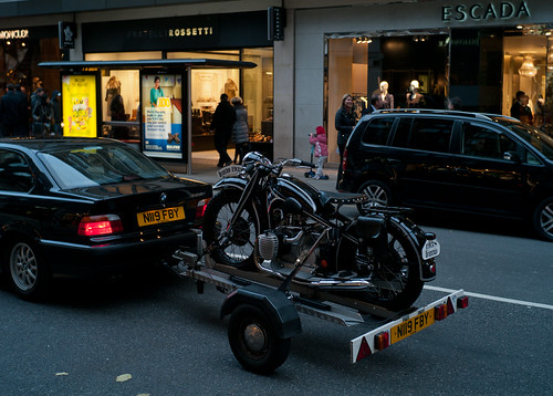 """Sloane St. BMW"" - black is the new black. by John Gulliver"