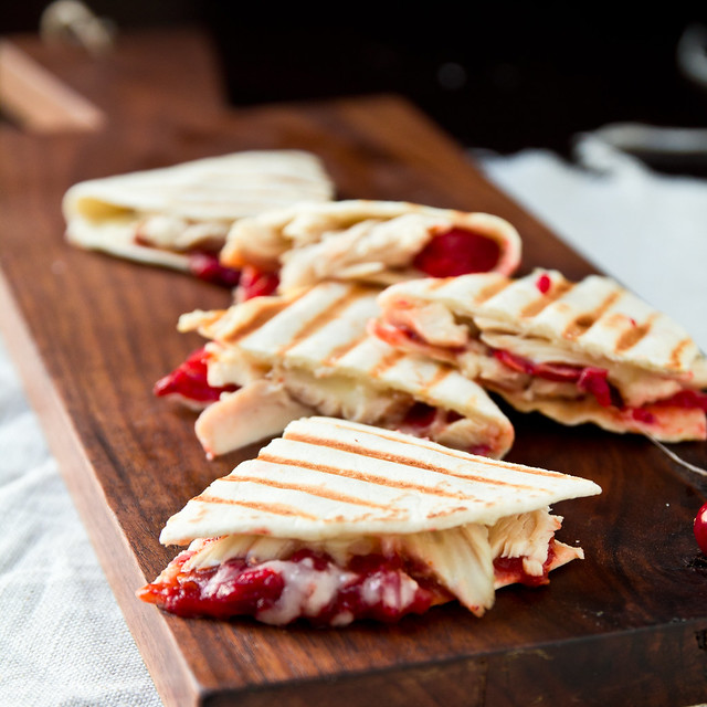 Turkey Quesadillas with Chipotle Cranberry Sauce Recipe | Confections ...