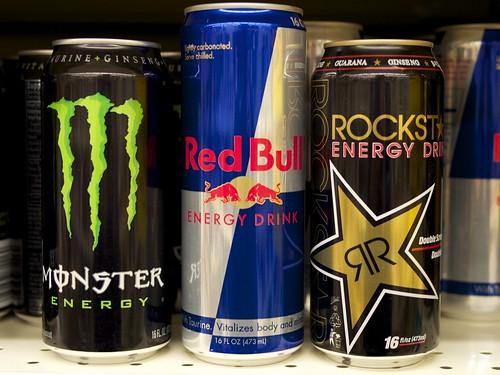 Energy Drinks - Monster, Red Bull and Rockstar