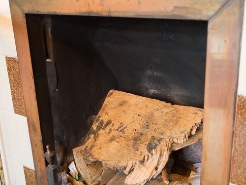 暖炉内部 上部空間