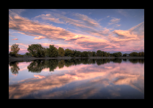 pink sunset sky lake reflection water clouds nikon october colorado twin sigma boulder hdr cloudscapes d300 2011 1850mm