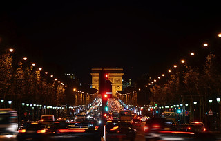 champ elysee by night
