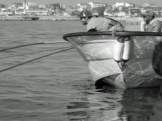 Marisqueiro en Ria de Arousa