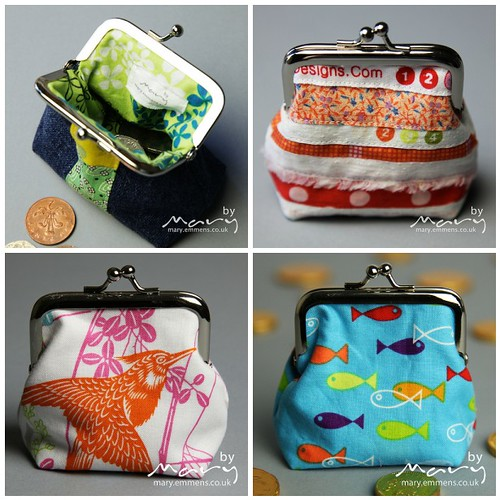 Glue-in frame purses