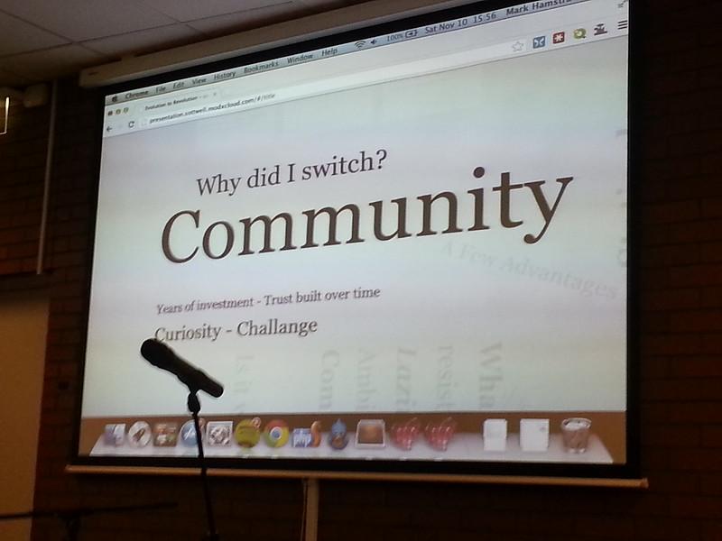 MODX Community Slide photo by Mark Hamstra