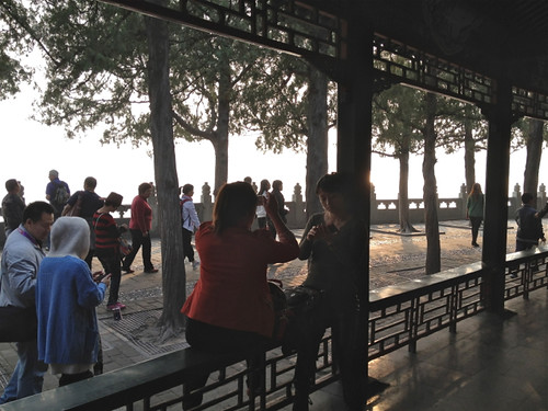 Beijing - the Summer Palace - local tourists