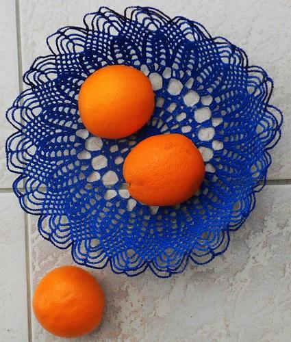 corbeille et oranges