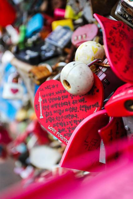 N Seoul Tower love locks by CC user whyyan on Flickr