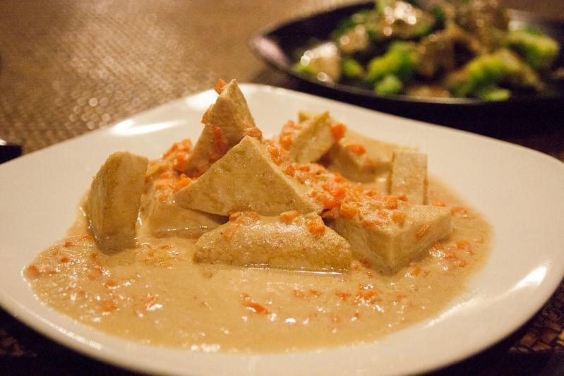Steamed Tofu with Sesame Cream from Tianzi Macrobiotics