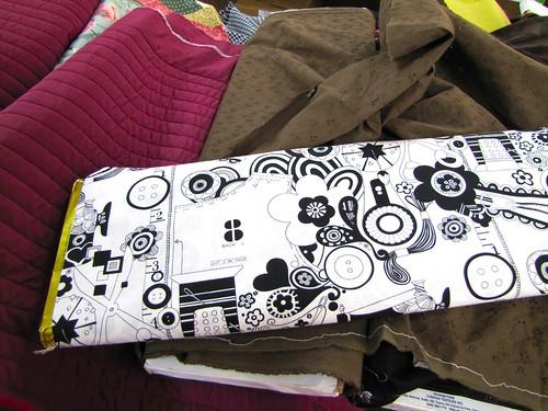 fun black and white fabric