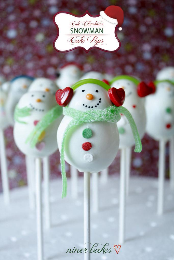 christmas snowman cake pops reloaded niner bakes. Black Bedroom Furniture Sets. Home Design Ideas