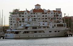 Superyacht M/Y Lady M II at Marina Bay, Gibraltar