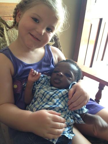 Niamh with Solomon Harvey Amani