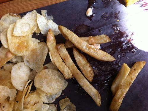 Fries and burger drippings