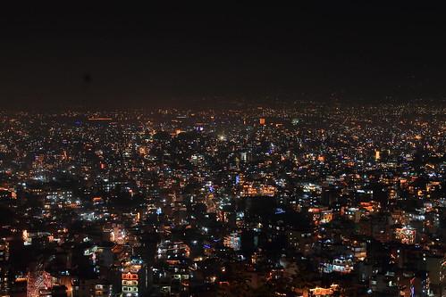 View of Kathmandu in Tihar