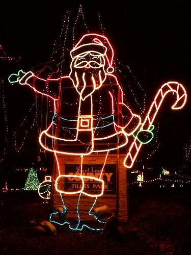Santa is lit.