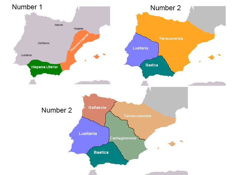 5 Roman Provinces Evolution In Iberia Peninsula Number 1 Flickr