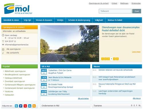 Website gemeente Mol - startpagina